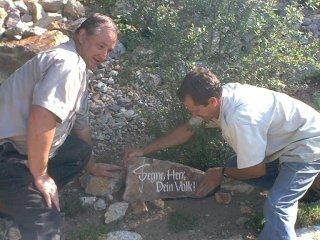 이스라엘기도동산, '에브라다'에 축복을 기리는 돌을 세움